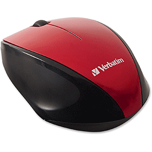 Verbatim Red LED Wireless Mouse